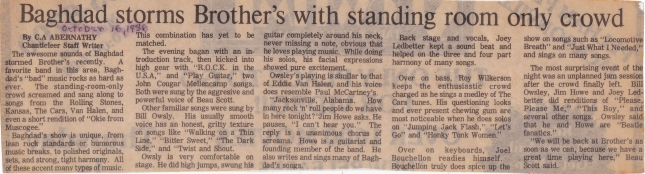 Baghdad review 16oct1986