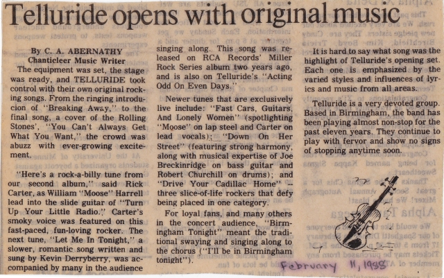 Telluride review 8feb1988