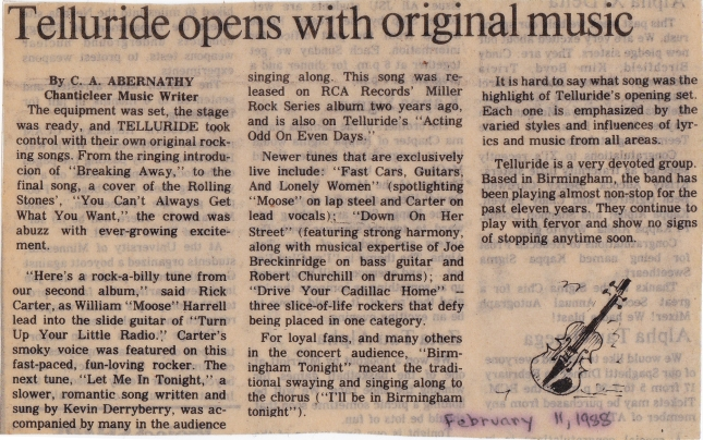 Telluride review 8feb1988