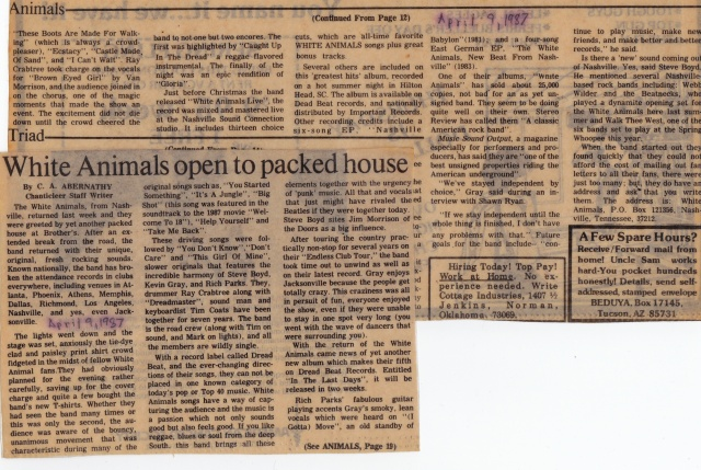 White Animals review 9apr1987