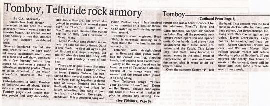 Tomboy, Telluride Rock Jville Armory