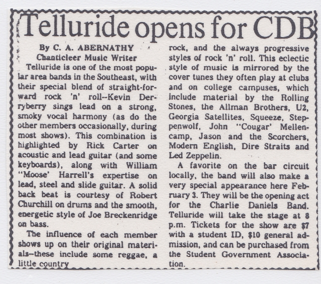 Tellruide opens for CDB